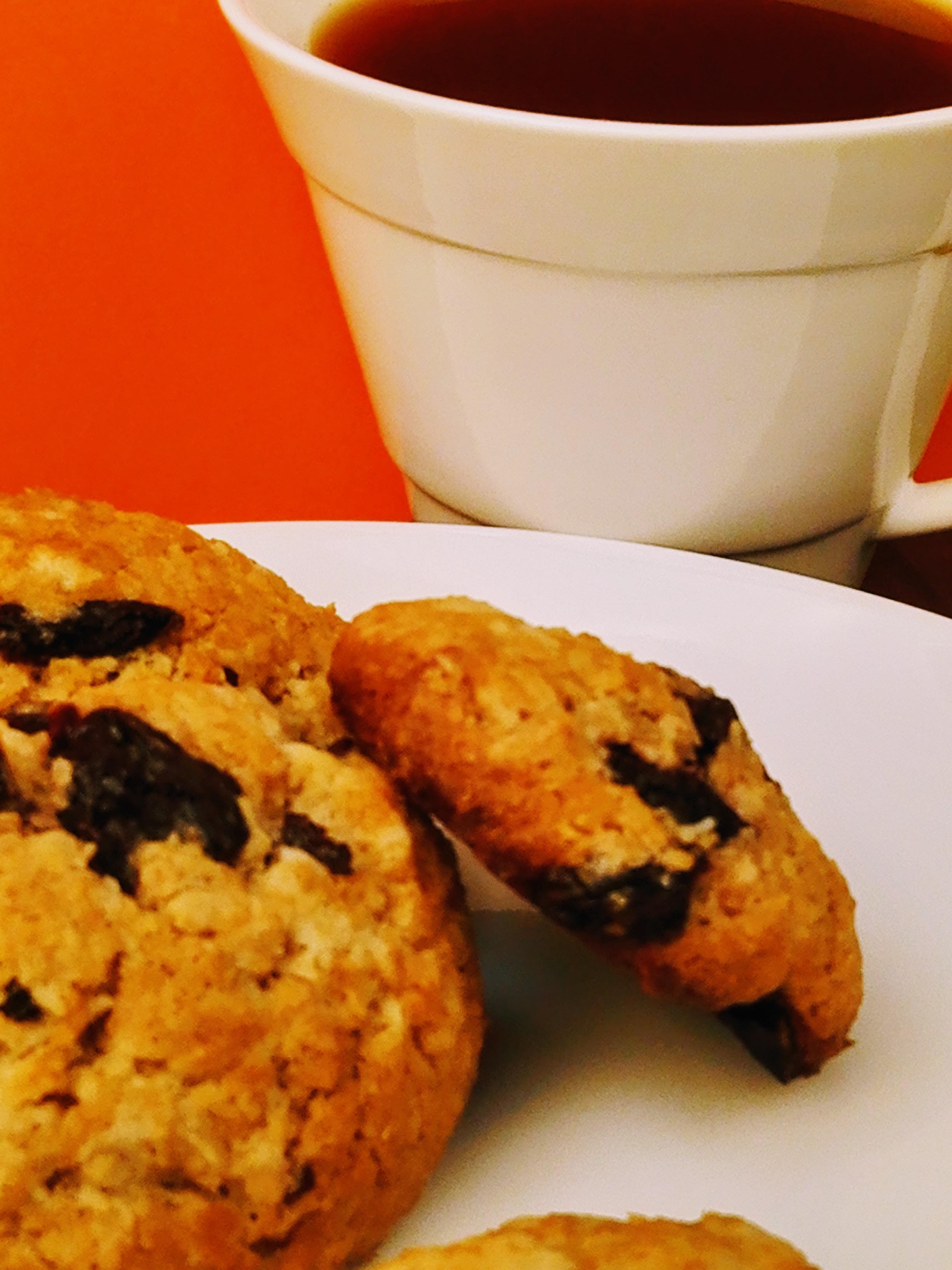 Coconut Cookies With Sour Cherries